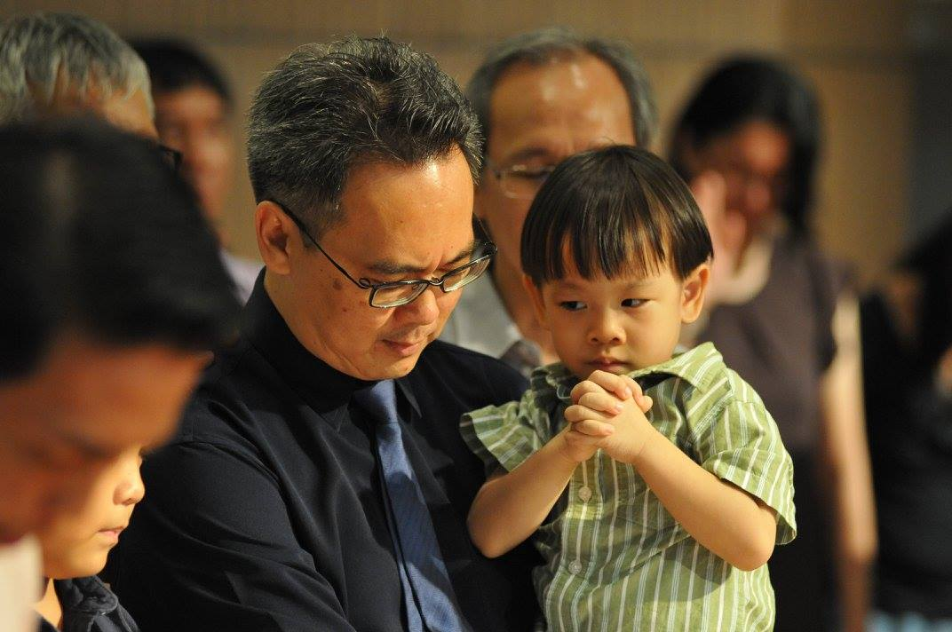 Yuong Eng and youngest son